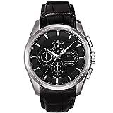Tissot Reloj Couturier automático Chrono Cuero Negro
