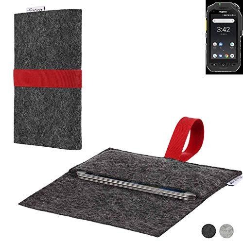 flat.design Handy Hülle Aveiro für Ruggear RG725 passgenaue Filz Tasche Case Sleeve Made in Germany