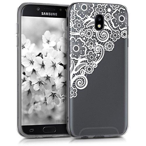 kwmobile Samsung Galaxy J7 (2017) DUOS Hülle - Handyhülle für Samsung Galaxy J7 (2017) DUOS - Handy Case in Weiß Transparent
