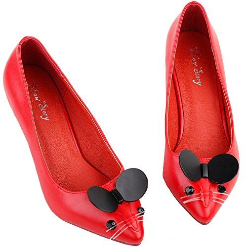 Scarpa Lf60408 È Carino Tacco Rosso Vedi Squisita L'istituzione Del Mouse Perla Femminile Abito Storia ASAqnx1z