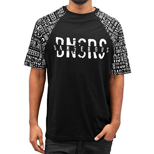 Dangerous DNGRS Cedric Herren T-Shirt Schwarz Schwarz