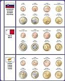 Lindner 8450-36 Vordruckblatt EURO COLLECTION: Kursmünzensätze Slowenien/Malta/Zypern