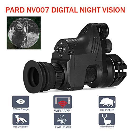 Pard NV007 Zielfernrohr für Jagd, Nachtsicht, WiFi-App, 5 W, IR-Infrarot-Nachtsicht, Zielfernrohr