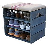 MEUBLE-CHAUSSURES-BLEU-PTROLE-BANC-de-RANGEMENT-pour-Chaussures-avec-TAGRES-Assise-Confortable-en-Tissu-Bois-Massif-Scandinave-LIZA-51-x-45-x-36-cm-Lignes-Rouges