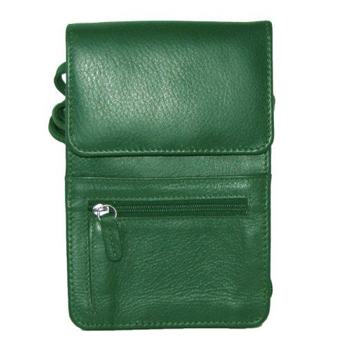 ili Leder-Organizer mit String-Überzug (Emerald) - Aus Bradley Vera Leder Handtaschen