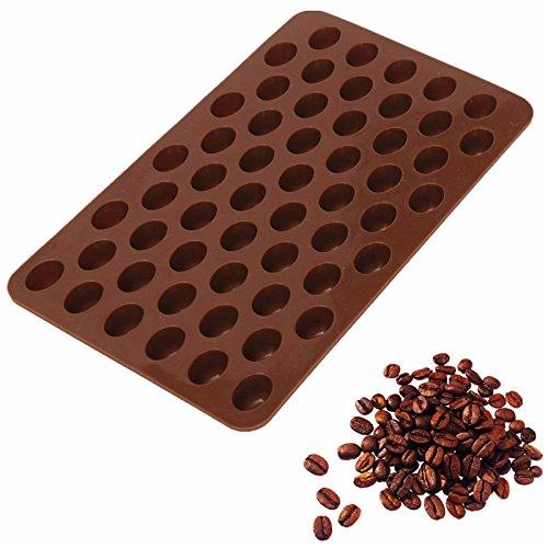 Yalulu 3D Silikonform Mini Kaffeebohnen Form Schokolade Süßigkeiten Zucker Torten Muffin Backform...