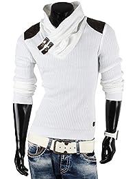 Redbridge sweat-shirt zippé en tricot avec col en v pour homme