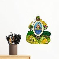 DIYthinker Wall Honduras Norteamérica Emblema Nacional Etiqueta engomada desprendible de Arte Mural Calcomanías de Bricolaje Fondo