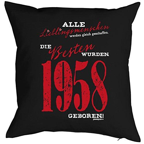 (Veri Zum 60. Geburtstag Geschenk 1958 Jahrgang Geboren für Sie und Ihn Mann Frau Deko Kissenbezug Lieblingsmenschen Aufdruck 1958 60 Jahre Alt Kissenhülle 40x40 cm :)