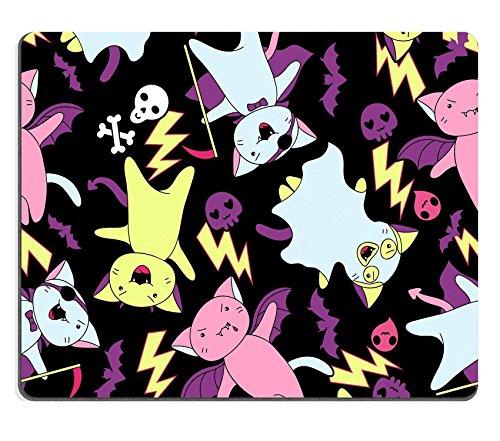 autschuk Mousepad Bild-ID: 15471261Vector kawaii Muster von Halloween Katzen und Kreaturen (Halloween Katzen Bilder)