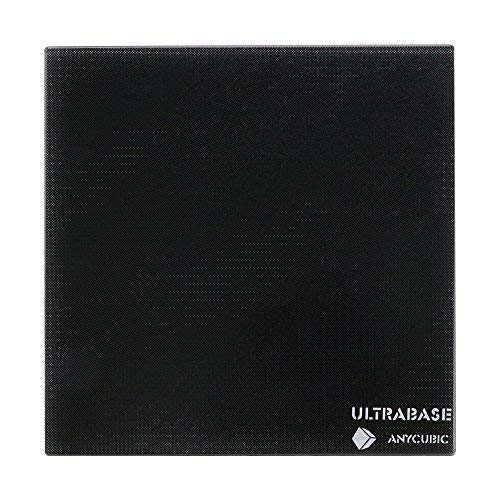 ANYCUBIC Ultrabase per stampanti 3D 220x220mm con base in vetro temperato e riscaldato con rivestimento microporoso per Prusa i3 MK2 MK3