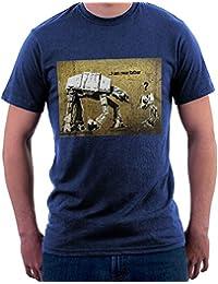 Banksy Star Wars At-At Father, Men's T-Shirt