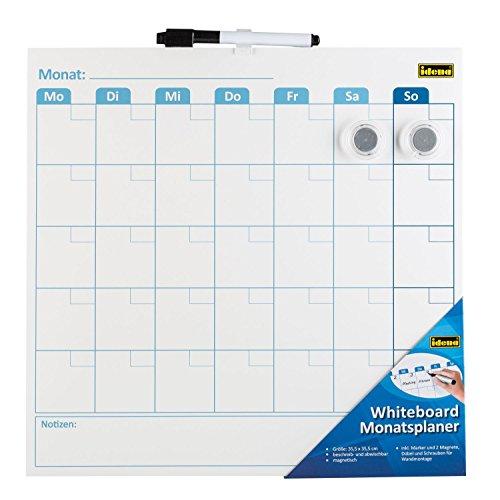 Idena 21414 Whiteboard Monatsplaner, inklusive Marker und 2 Magnete