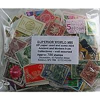Superior en todo el mundo sello Mix, aprox. 750Off papel usado y algunos Mint
