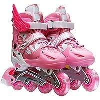 Patines En Línea Patines Para Niños Patines Para Niños Patines Para Niños Y Niñas No Deportes Peligrosos Al Aire Libre,Pink-S