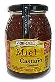 Kastanie Roher Honig - 1kg - In Spanien gesammelt - Feinste Qualität, Hausgemacht & 100% rein - Intensives Holzaroma und reicher, süßer Geschmack - Große Vielfalt an leckeren Geschmäckern