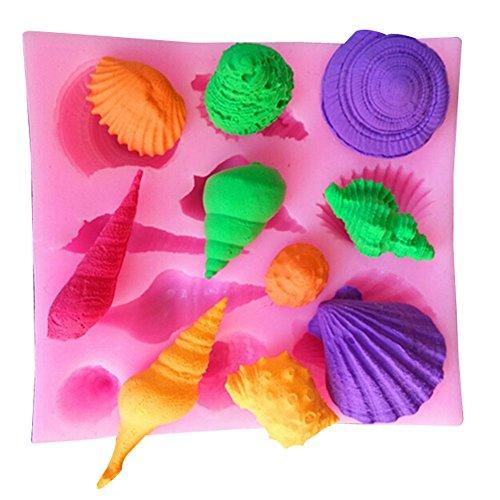 YOKIRIN® Accesorios de silicona moldes decoración de la torta pasta de azúcar del molde de chocolate, azúcar moldes de pasteles, moldes de jabón (estilo de vida marina 2)