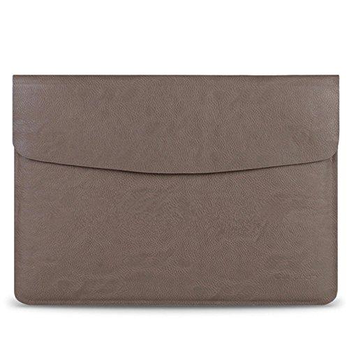 Fen für die MacBook Air 33,8cm Material aus reinem Leder, luxuriös, superdünn, PC Tasche, grau -