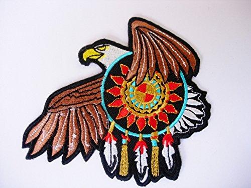 Patches-Adler Bettwäsche indische-Tier-Motorräder-Biker-Rocker-Chopper-Vest-Iron Man Patch-Wandleuchte Embroidery Wappen bestickt kostüm Geschenk-Give away - Bettwäsche Patch