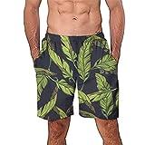 ODJOY-FAN Uomo Pantaloncini e Calzoncini da Bagno Spiaggia Mare Piscina Stampa Tempo Libero Pantaloncini Spiaggia 3D Tronchi per la di Surf con Stampa Estivi Stampato Manica Corta Tuta Pantaloni