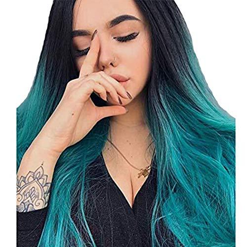 TANTAKO® Peluca Ombre Azul - Pelucas Ombre Azul Raíces
