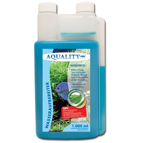 AQUALITY Wasseraufbereiter 1.000 ml (Aquarium Wasserpflege und Aufbereiter mit Aloe Vera + Vitamin B direkt vom Hersteller. Für den perfekten Wasserwechsel und bei Neueinrichtung)