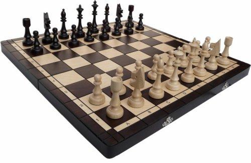 ChessEbook Schachspiel CLUB 48 x 48 cm Holz