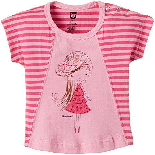 Baby League Baby Girls' T-Shirt (BLS15I78017_Light Pink_18-24 months)