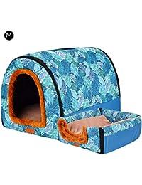 SH-Flying Cama para Mascotas, cálida caseta de la Perrera del Cilindro casa del