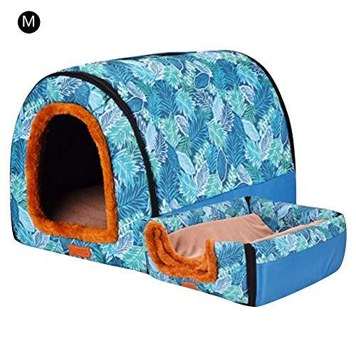 AIflyMi 2 1 Cómodo Casa Mascotas Sofá,Desmontable