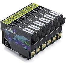 OfficeWorld Cartuchos de tinta para Epson 18XL, Alta Capacidad Compatible para Epson Expression Home XP-202 XP-305 XP-415 XP-412 XP-215 XP-312 XP-212 XP-102 XP-405 XP-205 XP-302 XP-402 XP-315 XP-405WH XP-30, (6 Negro)