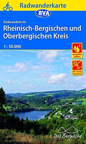 Radwanderkarte BVA Radwandern im Rheinisch-Bergischen und Oberbergischen Kreis 1:50.000, reiß- und wetterfest, GPS-Tracks Download (Radwanderkarte 1:50.000)