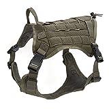 OSPet Hundegeschirr Hundeweste Militärdienst Hund Outdoor Wandern für große Hunde, dunkelgrün, XL (Girth 30-45