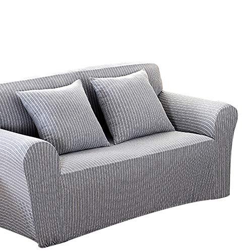 Boqingzhu Sofabezug Hellgrau 2 Sitzer Sofaüberwurf Sofaüberzug Sofahusse Stretch, 145-185 cm