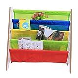 GOTOTOP Kinder Bücherregal, Hölzern Lagerung Regal Kinder Spielzeug Buch Magazin Büchergestell Kinderzimmer Dekoration Kinder (Weiß)