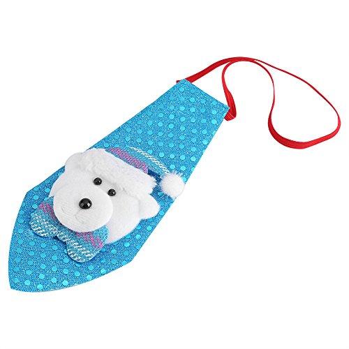 Kostüm Schneemann Tanz (Weihnachten Deko Accessoire Kinder Krawatten Elch kreative Weihnachtsbögen Kostüm Weihnachtsgeschenk Erwachsene für Merry Christmas Party Weihnachtsfeier Weihnachtsmarkt(blau mit)