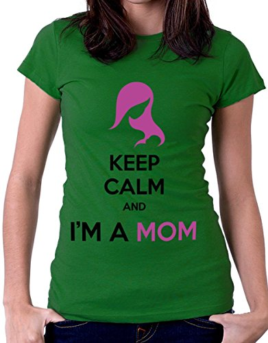 t-shirt festa della mamma -Keep calm and I am a mom - by tshirteria verde
