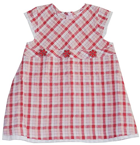 Schnizler Mädchen Kleid kurzarm Karo Margeriten