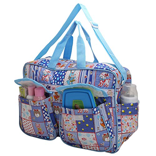 Indi Bargain Baby Bags Nappy Diaper Carry Bag Mummy Mother Bag Multipurpose Multi Compartment (Blue)