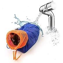 Cat bolsa de baño, NNIUK Multifuncional gato limpia lavado de bolsa Grooming Net respirante Unidad