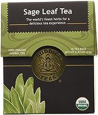 Sage Leaf Tea - Organic Herbs - 18 Bleach Free Tea Bags