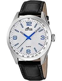 3705aac1c140 Lotus Reloj Analógico para Hombre de Cuarzo con Correa en Cuero 18149 3