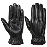 Acdyion Herren Winter Echtleder Handschuhe Warm Touch Screen Lederhandschuhe Outdoor