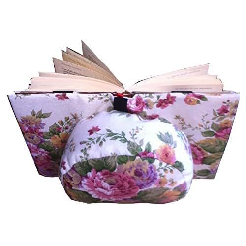 coussin de lecture belenci fleurs support pour livres pour lire au lit handmade. Black Bedroom Furniture Sets. Home Design Ideas