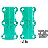 zubits® - Magnetische Schuhbinder/Magnetverschlüsse für Schuhe - Nie wieder Schuhe binden! Größe #3 Performance/Große Erwachsene in türkis