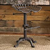 Picture Of Tractor Stool Cast Iron Vintage Style Seat Bar Rustic Industrial Shabby chic