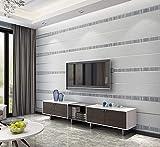 Einfache moderne vertikale Tapete des vertikalen 3D nichtgewebte Tapete silbernes Grau