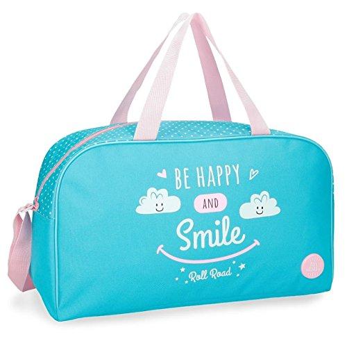 Bolsa de viaje Roll Road Happy Azul