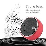 Altoparlanti Bluetooth, mini subwoofer wireless portatile, altoparlante audio multimediale per viaggi sportivi all'aperto con Aux da 3,5 mm, telefono a mani libere, supporto per schede TF(Rosso)