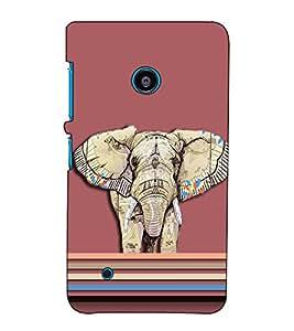 Fuson Designer Back Case Cover for Nokia Lumia 530 :: Nokia Lumia 530 RM 1017 :: Nokia Lumia 530 Dual SIM :: Microsoft Lumia 530 Dual (Designer elephant theme)